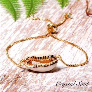 🐚Gold Color Natural Shell Charm Bracelet